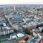 Air balloon view of Berlin.