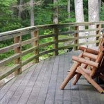 The deck is a peaceful place to enjoy the scenery
