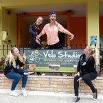 Happy people at  Velo Studios!