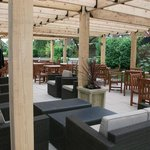 Nice outdoor covered seating area