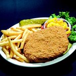 Our delicious pork tenderloin served with fries and all the toppings you need!