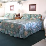 Our charming 2 queen bed room.