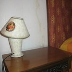Old lamp and humidity on the wall