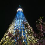 Tokyo Skytree - from the hotel 2 stops by metro + Skytree train
