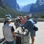 Sharing insights at Tunnel View