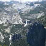 View of Nevada and Vernal Falls