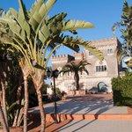 Schloss mit Palmen