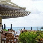 Indoor and outdoor terrace seating at Punta Bonita