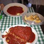 lobster ravioli and spaghetti pie