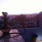 smoking my water pipe on the gorgeous terrace