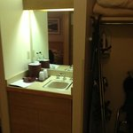 Wet-bar area & closet space