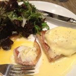 Eggs Benedict at the hotel restaurant - delicious!
