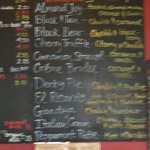 sorry for the blurriness but here's some coffee choices