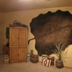 Entertainment Center and Bison Hide