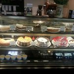 the display of the wonderful fresh baked deserts of the day !! YUMM !