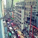 view from room D, at the end of the street is Nathan Road