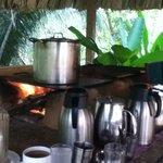 Morning coffee station