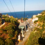Funivia from Taormina town to the beach