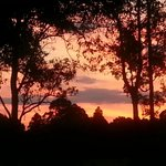 the sunset from our back deck