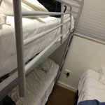 Bunk bed railing completely damaged. Would you want your kids sleeping on this?