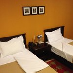 Detailed rooms, great shower, wifi and TV.