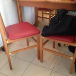 all chairs damaged or broken