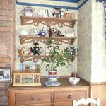 Dining room with teapot display