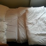Sofa bed - the middle section is higher than the top section, which means there is a sudden drop