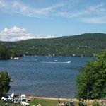 Le lac beauport en été