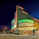 The Stephen Joseph Theatre at night.