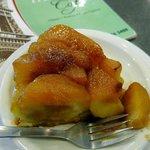 a slice of apple tart