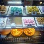 The popular macarons, I like the lemon and orange flavors