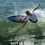 Surfing at Hikka