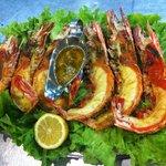 Camarão Tigre Grelhado (grilled tiger shrimp)