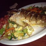 Fried whole snapper, this one was large so it was about $12