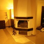 Fireplace. Apartment lower floor. (no possibility of using as no fuel etc)