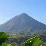 Morning view of Arenal Volcano - get up early before the clouds roll in.