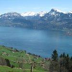 Aussicht auf den Vierwaldstätter See vom Zimmer mit Seesicht