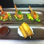 panko prawns or duck rolls both very nice
