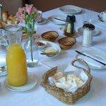 Homemade breakfast in Casa Lila, Bed and Breakfast in Mendoza, Argentina.