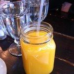 orange juice in a jar!