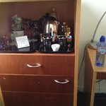 Coffee station (mini bar in cupboard underneath)