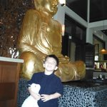 Our son, by the Budda Fountain