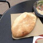 Warm, fresh pita bread