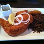 Breaded Chicken with rice & beans