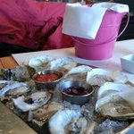 Variety of cheff choice of oysters