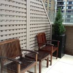 Balcony - 2 chairs and a table, lounger & table