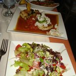 corvina with salad