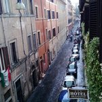 The view of the street from our room