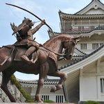 statue or chiba tsunetane the lord of chiba in kamakura era